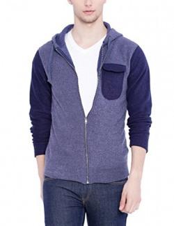 Campus Sutra Men Denim Sweatshirt (W16_ZH2CPK_M_PLN_DNBU_M)