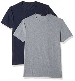 Qube By Fort Collins Men's Regular Fit T-Shirt (173-RS _Multicolor 3_X-Large)