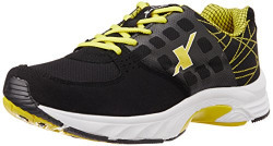 Sparx Men's Black and Yellow Running Shoes - 7 UK