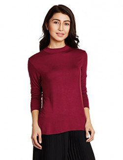 AND Women's Body Blouse Shirt (AW16AY63KT53VLBURGUNDY10)