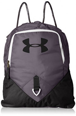 Under Armour Undeniable  Polyester Graphite and Black Drawstring Bag (1261954-040)