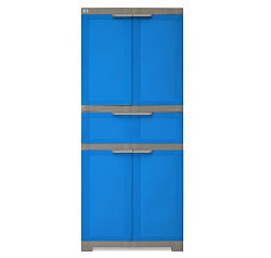 @home by Nilkamal Freedom Cabinet with 1 Drawer (Blue and Grey)