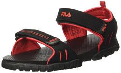 Fila Men's Climb Blk and Rd Sandals - 7 UK/India (41 EU)(11004150)