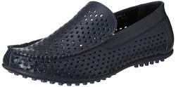 Bata Men's Sandler Blue Leather Formal Shoes - 8 UK/India (42 EU)(8559116)