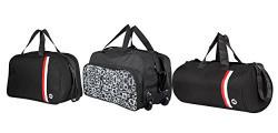 3G Set of 3 Travel duffel bags black