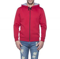 Alan Jones Clothing Men's Cotton Sweatshirt (SS-401-MAROON-L _Maroon _Large)