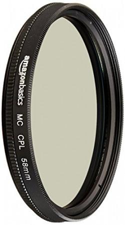 AmazonBasics Circular Polarizer Lens - 58 mm
