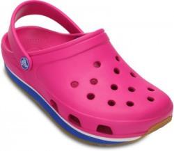Crocs Men Fuchsia/Sea Blue Sports Sandals