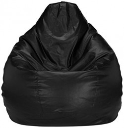 Solimo XL Bean Bag Cover Without Beans (Black)