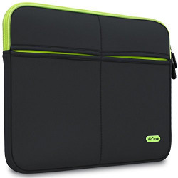 AirPlus AirCase AP-MS-208-BLK  15-inch to 15.6-Inch Laptop Sleeve Suave, 6-MultiUtility Pockets (Black)