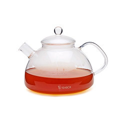 Teabox Harmony Glass Tea Kettle (Borosilicate glass teapot, Stovetop tea kettle, 1.1 litre)