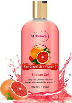 St.Botanica Pink Grapefruit and Vitamin C Luxury Shower Gel Body Wash, 300ml