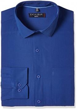 Excalibur Men's Formal Shirt (8907542173877_269654189_DK-BLUE_40)