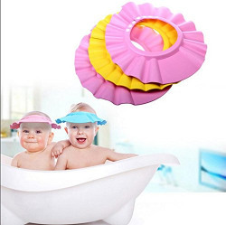 CONNECTWIDE® Baby Shampoo Shower Cap (Color-Assorted) Qty.(1pic) Size: 27 * 25 * 1.5 cm