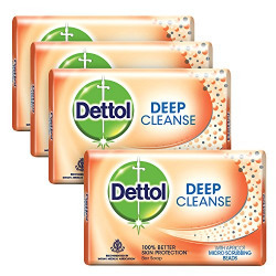 Dettol Deep Cleanse Soap, 75g (Buy 3 Get 1 Free)