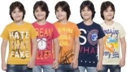 Maniac Boys Printed Cotton T Shirt