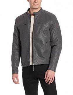 Ed Hardy Men's Synthetic Jacket (8907378415516_EHJK0220_X-Large_Grey )