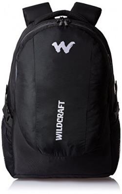 Wildcraft Nylon 40 Ltrs Black Laptop Bag (Trident XL 2_Black)