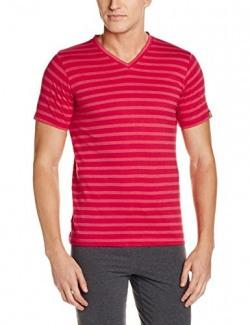 Chromozome Men's Cotton T-Shirt (8902733314336_OS5_brightred_M)