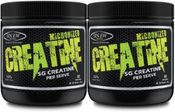 Sinew Nutrition Micronized Creatine Monohydrate 300gm / 0.66 lb - Unflavoured (Pack of 2) Creatine