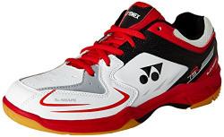 Yonex SRCR 75 Badminton Shoes, UK 8 (White) with 1 pair of Yonex Socks (Free size)