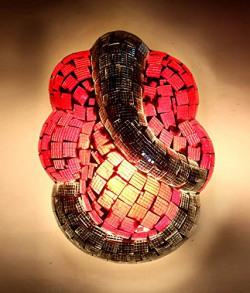 Home Sparkle Glass Wall Lamp (10 cm x 10 cm x 20 cm, TEL048)