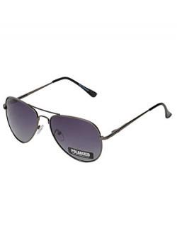 Vast Polar Vision Polarized Aviator Unisex Sunglasses (Polo5027|Gun|62|Grey Lens)
