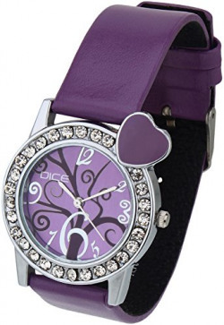 Dice Heart Beat M Analogue Purple Dial Watch for Women HBTM-M170-9780
