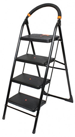 PAffy Folding Ladder with Wide Steps - Milano 4 Steps with 7 Years Warranty