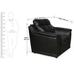 HomeTown Tantor Single Seater Sofa (Black)