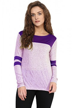 Miss Chase Women's Basic Top (MCSS16TP06-40_Purple_XS)