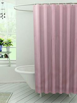 Kuber Industries™ Self Design Soft PVC Premium Shower Curtain - 7 Feet -84*54 Inches (Pink) -Shower01