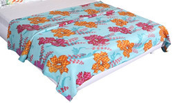 Bombay Dyeing Cherry Printed Double Fleece Blanket - Multicolor (BLFLCY2202404863A)