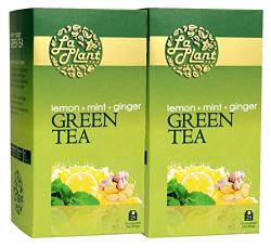 Laplant Lemon, Mint & Ginger Green Tea - 50 Tea Bags (Pack of 2)