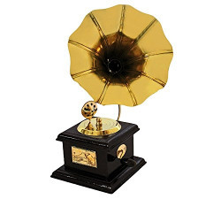 GREENTOUCH CRAFTS Handmade Vintage Dummy Gramophone Showpiece Only for Home Décor