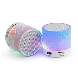 Treecase Rechargeable Bluetooth Speaker With Led Wireless Bluetooth Speaker With Handsfree Calling Feature, Sd Card Slot ,Assorted Colour For LENOVO 2010