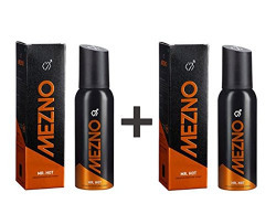 Mezno Mr. Hot - Sizzling And Long Lasting Fragrance Deodorant Body Spray For Men - 24 Hrs Fresh Power - No Gas Deo - 120ml (Pack of 2)