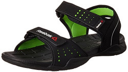 Reebok Men's Z Connect Black and Neon Green Athletic & Outdoor Sandals - 8 UK/India (42 EU) (9 US)