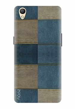 Noise Designer Printed Case / Cover for OPPO A37 / Patterns & Ethnic / Denim Blocks Design - (GD-352)