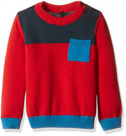 United Colors of Benetton Boys' Sweater (16A1TRIC0034I902XX_Red and Multicolored)