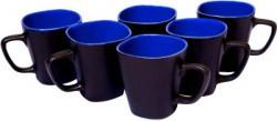Vpra Mart Square Shape Blue Ceramic Mug