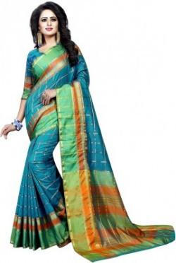 Anugrah Textile Floral Print Bollywood Cotton Saree