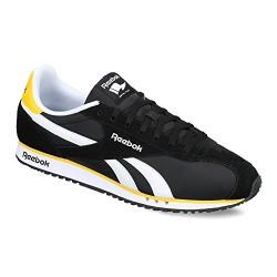 Reebok Classics Men's Royal Alperez Dash Black, White and Retro Yellow Leather Sneakers - 11 UK/India (45.5 EU)(12 US)