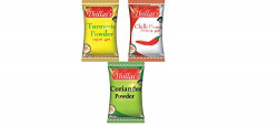 Thillais 100gr Turmeric, Chilli, Coriander Powder Pack of 3 (Combo)