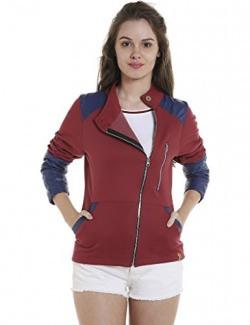Campus Sutra Women's Plain Jacket (AZW17_JKCRZHN_W_PLN_MABU_AZ_S)