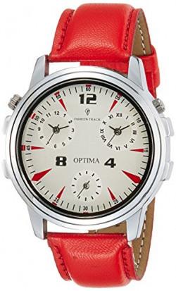 Optima Analog White Dial Men's Watch - FT-ANL-2526