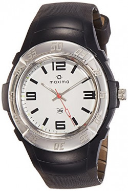 Maxima Analog White Dial Men's Watch - 23233PPGN
