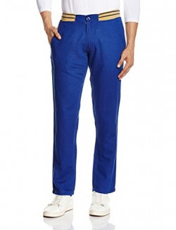 People Men's Casual Trousers (8903880679804_P10102057508219_28W x 34L_Navy)
