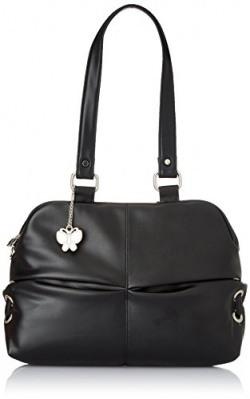 Butterflies Women's Handbag (Black) (BNS 0174)