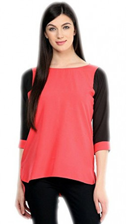 Varibha® Pink & Black Cotton Free Size Plain Kurti For Women / Girl | Low Price Kurti Below 300 | Best Deal Of The Day | Best Offer Of The Day | diwali offers for women dresses | diwali offer 2017 | today best offers